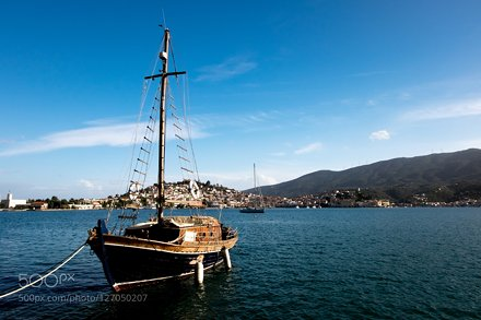 Sailboat, Poros, Greece