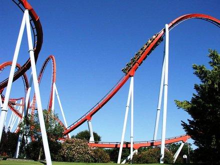 PortAventura - China Dragon Khan roller coaster