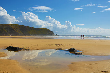 Mawgan Porth Low Tide Reflections