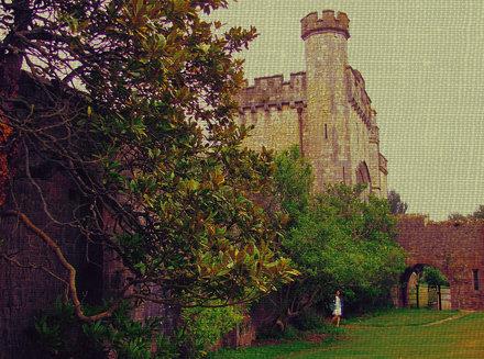 Beside the Castle walls