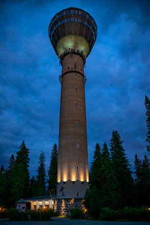 Puijo Tower in the Night