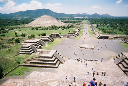View of the Avenue of the Dead from the Pyramid of the Moon