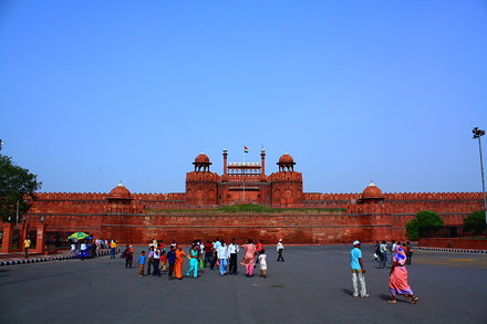 Red Fort in Old Delhi, India.