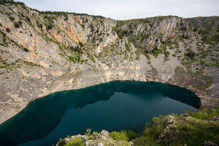 Blue lake of Imotski