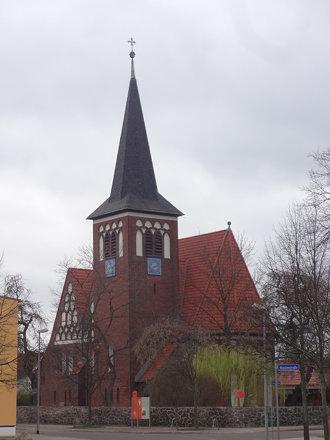 1909/10 Magdeburg neogotische evangelische Reformationskirche in Backstein 33mH von BR L. Peitsch Tu