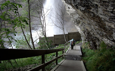 Climbing up the Reichenbach Falls