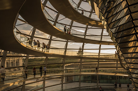 The Dome at Bundestag in Berlin