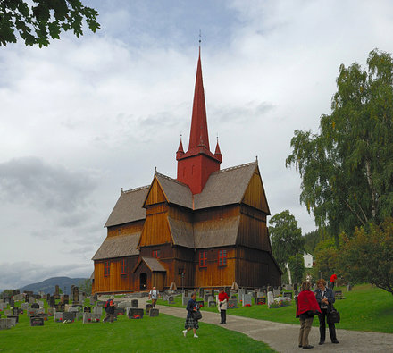 Középkori  gerendatemplom  / Stave church from middle ages