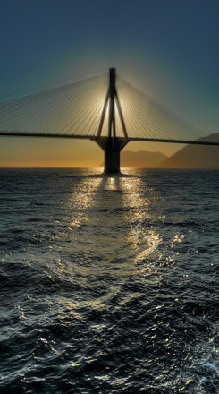 Rio-Antirio bridge in HDR