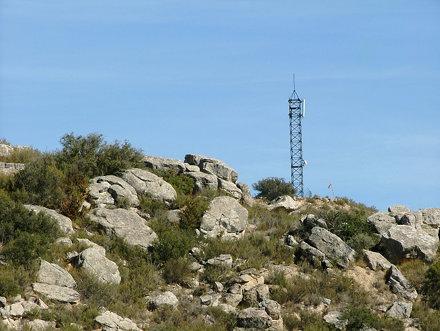 Antena al Tossal de les Forques, el Cogul