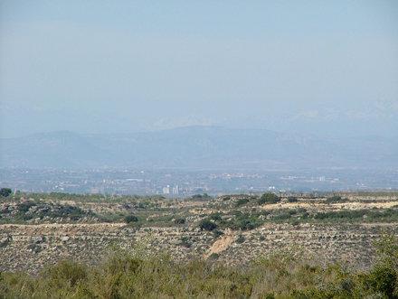 La Plana de Lleida des del Cogul