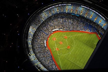 Toronto Blue Jays Playing at the Rogers Centre