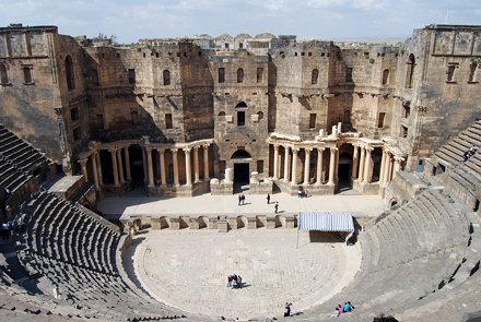 The Roman theatre in Bosra