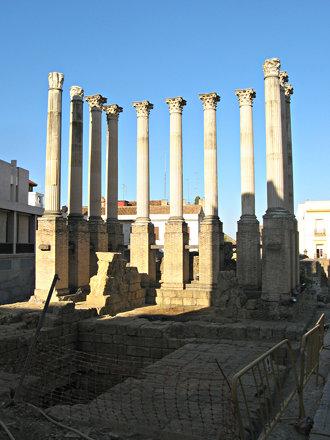 Columns of Roman Temple in Cordoba, Andaluzia - Spain