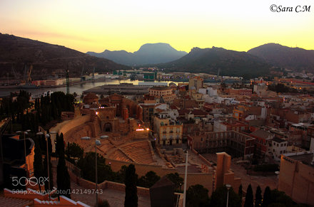 Views of Cartagena and its Roman theatre (Murcia, Spain)
