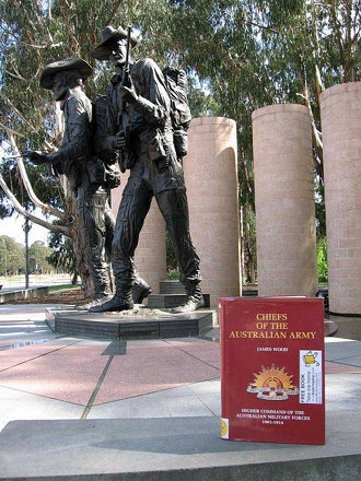 'Chiefs of the Australian Army', left at Australian Army Memorial, Anzac Parade