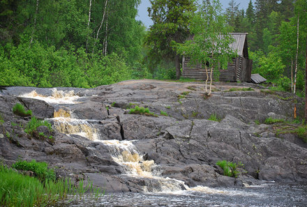Karelia, The Tohmajoki river, Ruskeala waterfalls