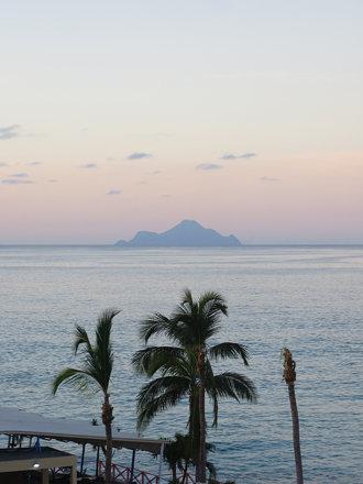 dawn, looking over to Saba,St Maarten, Oct 2014