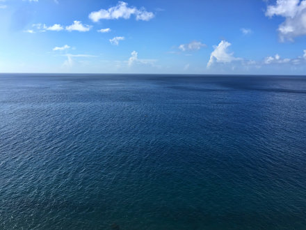 The blue of Ladder Bay.
