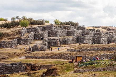 Inca ruins at Saksaywaman near Cusco in Peru