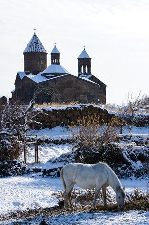 Near Saghmosavank monastery