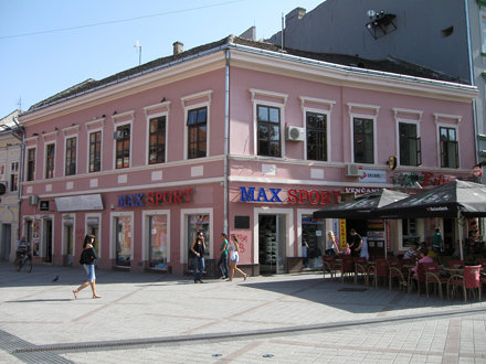 """Downtown Novi Sad - """"White Lion""""- The Oldest House"""