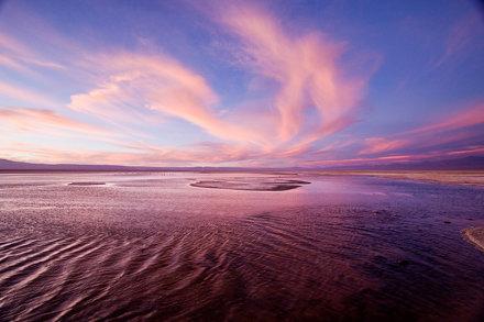 Sunset at Salar