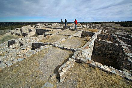 Friends on Gran Quivira Pueblo