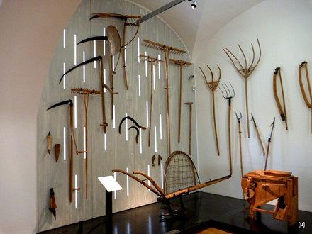 Alte Landwirtschaft im Museum in Schloss Stainz