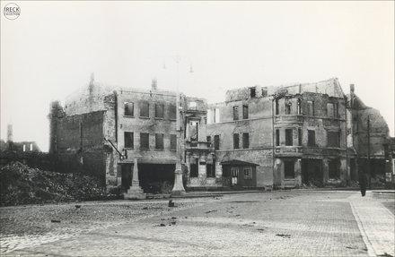 Świdwin zniszczenia wojny 1945 Schivelbein Pommern Markt Pomorze