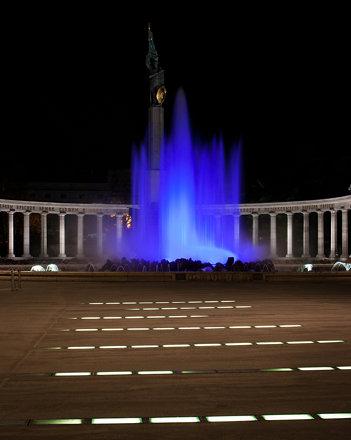 Hochstrahlbrunnen (blau)