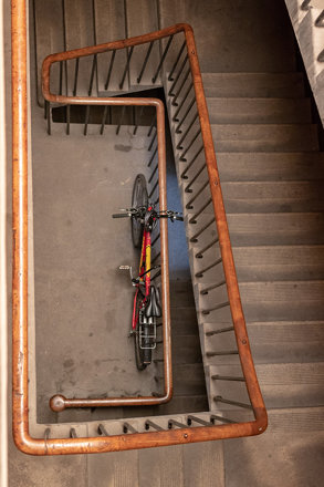 Staircase with Bicycle