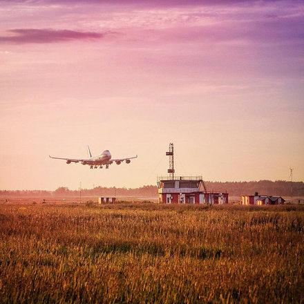 100 feet to runway // #boeing #747 #svo #sheremetyevo #airport #ilovesvo #airbridgecargo #volgadnepr