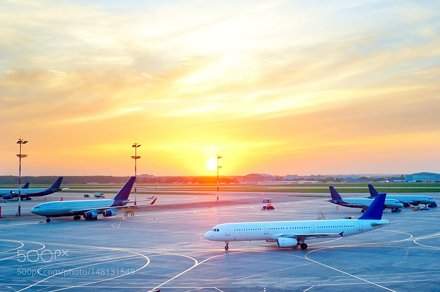 Planes at airport