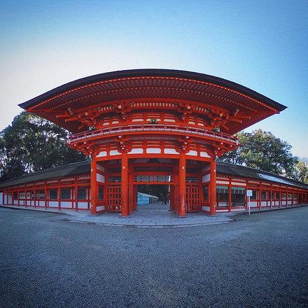 Romon (A tower gate) of Shimogamo Jinjya Shrine, Kyoto, Japan.