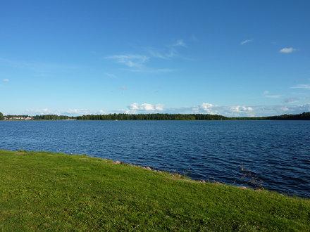 Le bleu céruléen du lac Siljan