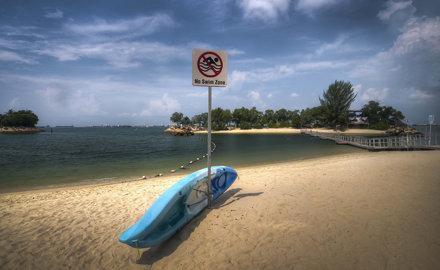 No swim zone