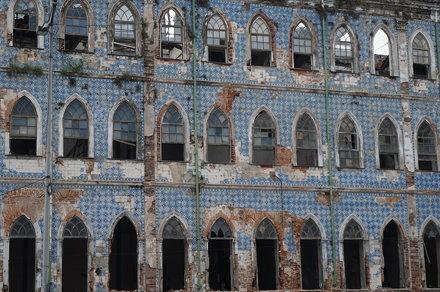 Abandoned buildings on Praça do Mercado, Salvador, Brazil