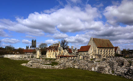 St Augustine's Abbey,Canterbury(looking West)