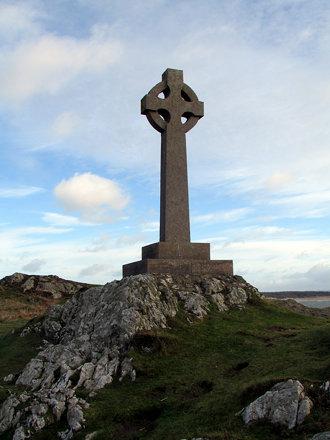 Cross on Llanddwyn Island