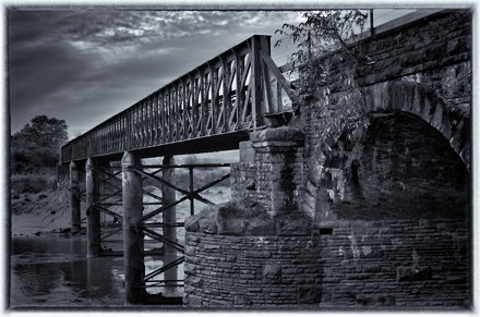 The Iron Bridge Over The River Usk in Newport