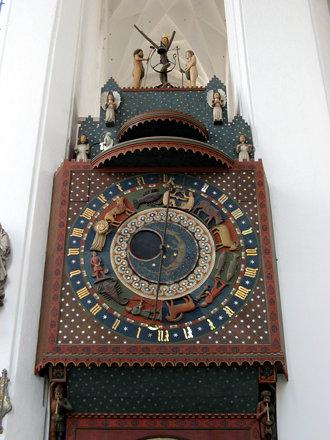 Marienkirche, astronomische Uhr von Hans Düringer