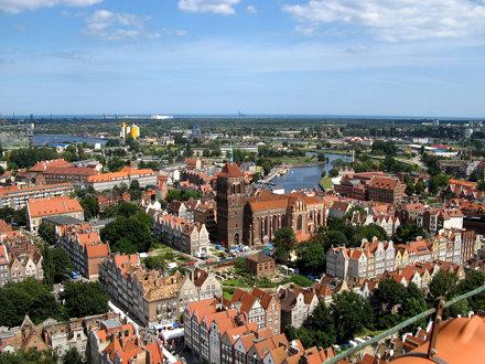 Blick über Danzig von der Marienkirche