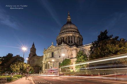 St Paul's Light Trails