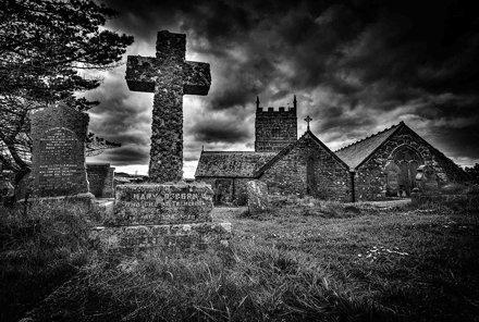 Old Granite Cross of Mary Osborne & Robert Osborne