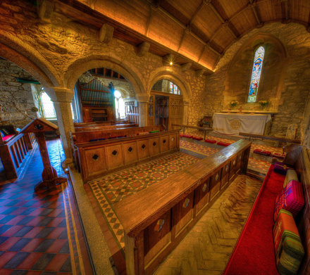 Beatifully finished interior of one of our favourite Cornish Churches