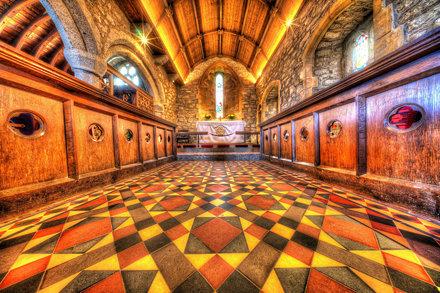 The Gorgeous Tiled Floor of St Senara's Chancel