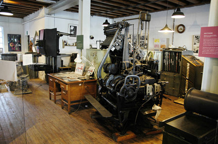 View from the letterpress and photoengraving area