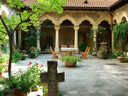 Church Courtyard in Bucharest