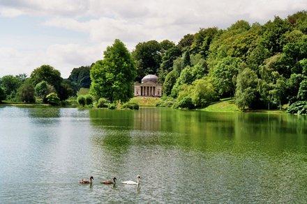 Parc de Stourhead House, Wiltshire, Angleterre.